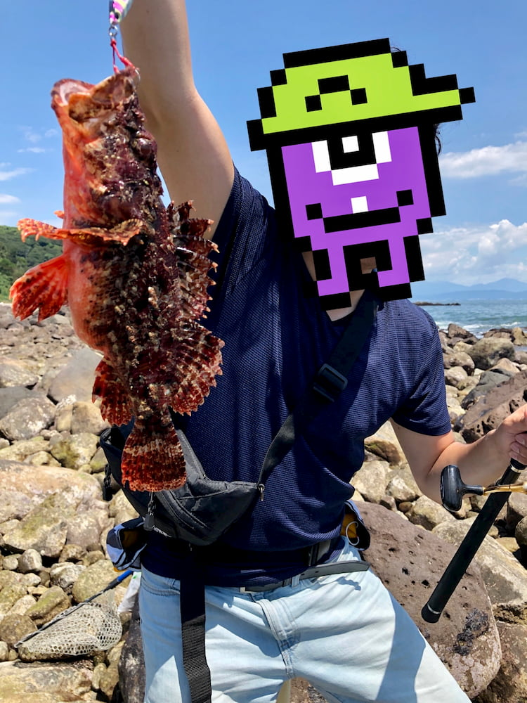 真鶴釣果 オニカサゴ