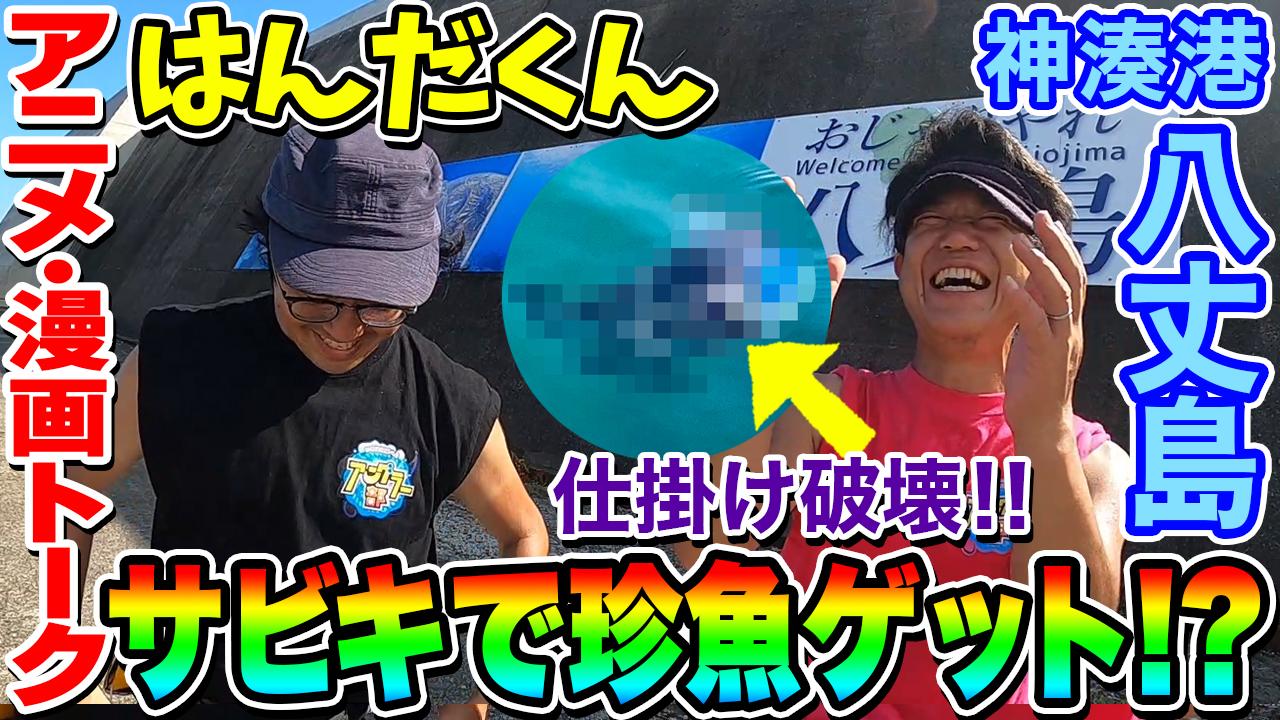 【はんだくん】サビキ釣りdeアニメ・漫画トーク!! in 八丈島